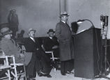 [Unknown man speaking at a press conference. Century of Progress International Exposition, ca. 1933-1934.]