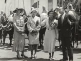 """Mrs. N.A. Ourngs, Miss Helen Dawes, Mary Pickford, Lenox R. Lohr and Black Horse Troop in..."