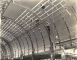 [Photo of initial construction work for one the exhibition buildings for A Century of Progress...