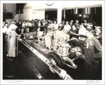 [The Hupmobile exhibit at A Century of Progress International Exposition, ca. 1933-1934. The...