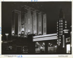 [The 23rd Street entrance at night, Century of Progress International Exposition, 1933-1934.]