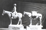 "[Sculptor Wilbur Freece created this small statuette, known as ""Jim of the Golden West,"" from beef suet"