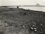 [Photo of the initial construction work for A Century of Progress International Exposition. The...
