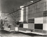 [Exterior view of the Social Science wing of the Electrical Group building. The photo was taken in 1933