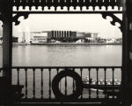 [View of the Electrical Group exhibition building from the Fair's showboat.