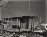 [Construction of the children's theater for the Enchanted Island exhibit at A Century of Progress. The