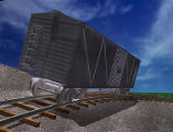 Simulation of a Freight Car on a Spiral Track
