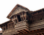 Enchanting Wood: Upper Story of Entrance Gateway, Padmanabhapuram Palace, India