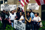José López with group at an anti US Navy in Vieques rally