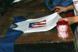 Tshirt stenciled with Puerto Rican flag