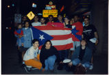 Young people with flag