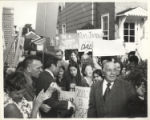 Richard J. Daley with supporters outside his home (darker copy)
