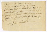 Letter from John Cuthbert (?) to...