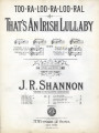 (Too-ra-loo-ra-loo-ral) That's An Irish Lullaby