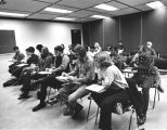 Campus Photograph Collection: SSU Interim Campus, First Day of Classes, October 5, 1970.