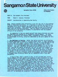 "Blue Memo (""Considerations in Appointing New Faculty""), December, 1970"