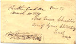 Chandler Family Papers: Letter, Charles E. Chandler to Louisa Chandler, 1854-03-16