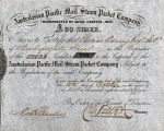 Springer Financial Documents Collection, Australasian Pacific Mail Steam Packet Company Stock Certificate