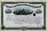 Springer Financial Documents Collection, Oregon and Transcontinental Company Stock Certificate