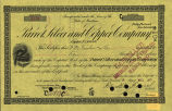 Springer Financial Documents Collection, Parrot Silver and Copper Company Stock Certificate
