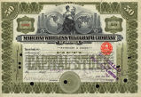 Springer Financial Documents Collection, Marconi Wireless Telegraph Company Stock Certificate