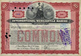 Springer Financial Documents Collection, International Mercantile Marine Company Stock Certificate