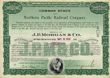 Springer Financial Documents Collection, Northern Pacific Railroad Company Stock Certificate