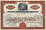 Springer Financial Documents Collection, Mission Development Company Stock Certificate