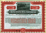 Springer Financial Documents Collection, United States Steel Bond