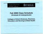 University of St. Francis  Fall 2006 Class Schedule