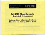 University of St. Francis  Fall 2007 Class Schedule