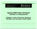 University of St. Francis  Spring 2006 Class Schedule