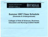 University of St. Francis  Summer 2007 Class Schedule