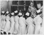 Nurses at Mass at St. Joseph's Hospital - 1957
