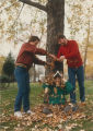 CSF Students Play in the Leaves - ca. 1985-1986