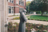 Statue of St. Francis in Front of Tower Hall - 2004