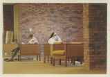 Students Study in a Lounge - ca. 1968-1972