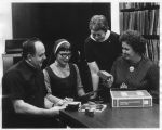 Staff Discuss New Library Materials - 1975
