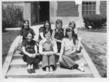 CSF Students Sitting on Steps Outside Tower Hall - ca. 1965-1975