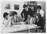 Students Meet with Professor - 1980
