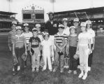 Olympic Night at Comiskey Park - Player w/ Children - 1984