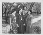 Students Pose by Tree - ca. 1940-1960