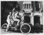 Riding Tandem Bike in Front of Tower Hall - ca. 1970-1972