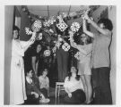 Decorating Hallway in Dorm - ca. 1965-1979