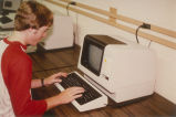CSF Student on Computer - ca. 1978