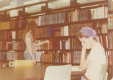 Students Study in Library - 1976