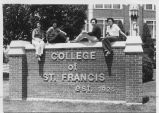 Students by CSF Sign - ca. 1975-1989 2