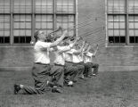 Summer 1951 Trombonists On One Knee