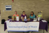 International Day of Peace table