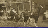 Man and Woman in Horse Drawn Buggy 1909 or 1910